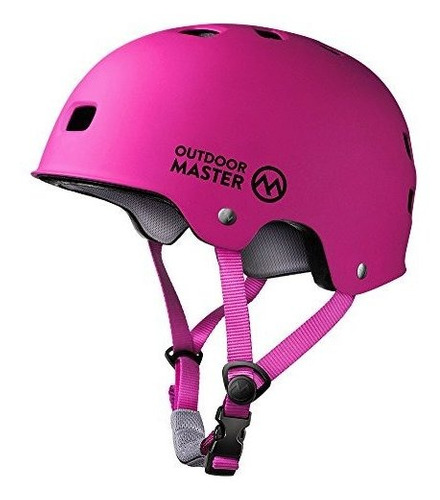casco de skateboard outdoormaster - casco ligero, de perfil