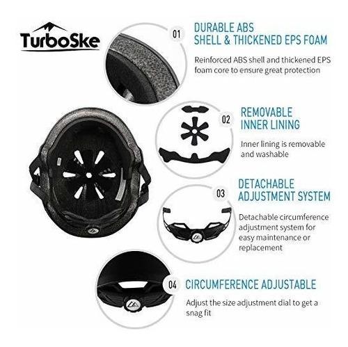 casco de skateboard turboske, casco de ciclismo, casco de sc