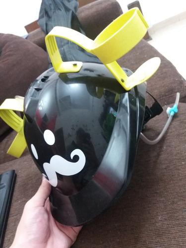 casco de trabajador con porta vasos