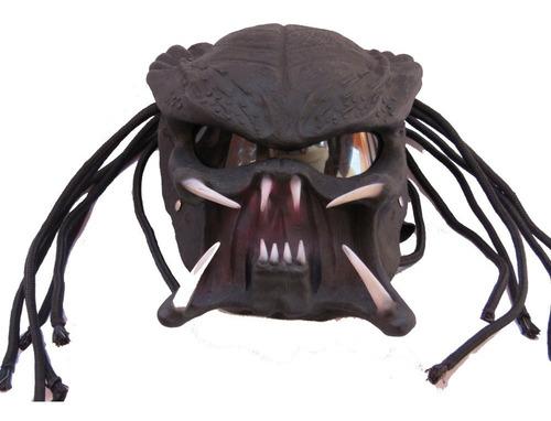 casco depredador, colmillos negro, envío gratis!!!