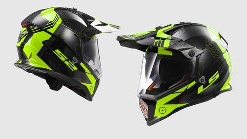 casco doble proposito ls2 pioneer con gafas humo rider one