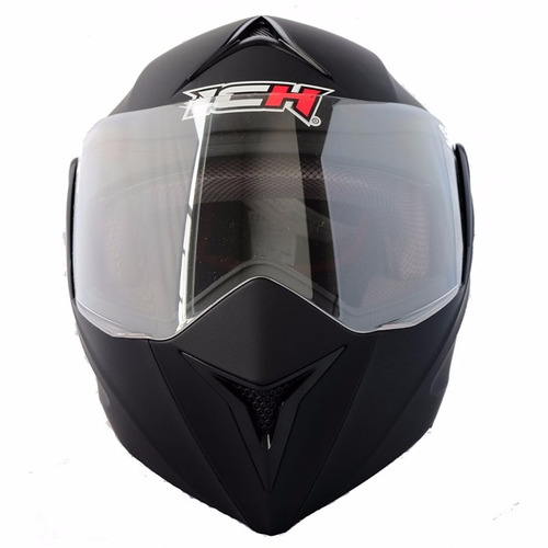 casco doble visor certificado ich + combo de protección