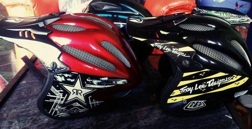 casco downhil, cross, mtb bicicleta + llavero lanyard