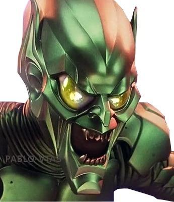 Casco Duende Verde Spider Man Para Armar En Papercraft 4799