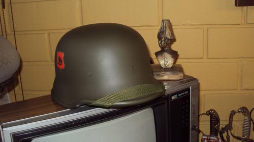 casco ejército chileno, modelo alemán color verde