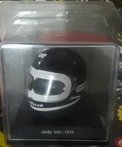 casco en escala fórmula jacky ickx 1979 de coleccion.