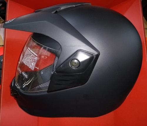 casco enduro - bieffe sport classis negro mate - 12 cuotas