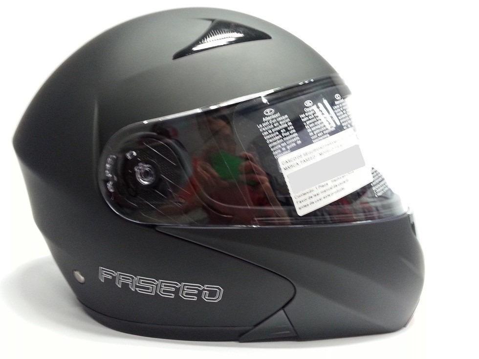 9a766c178bb75 casco faseed fs-901 abatible con lente interior negro mate. Cargando zoom.
