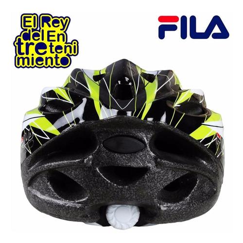 casco fila regulable ciclismo rollers skate bicicleta el rey