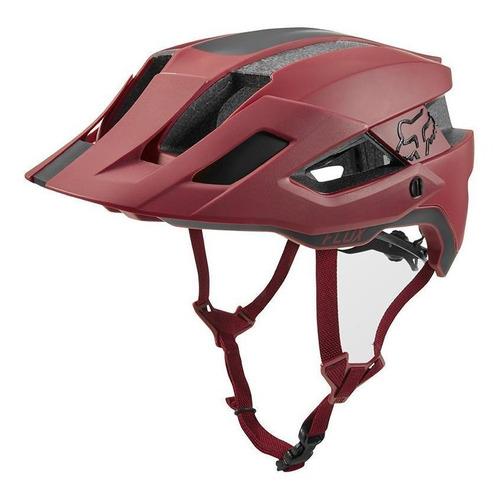 casco fox flux rush rojo cardenal