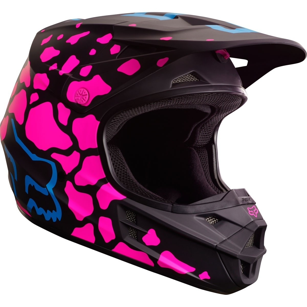 casco fox v1 grav rosa mujer 2017 motocross atv moto talla. Black Bedroom Furniture Sets. Home Design Ideas