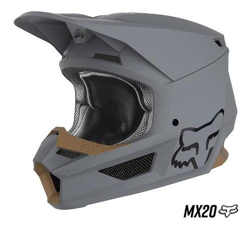 casco fox v1 matte mx20