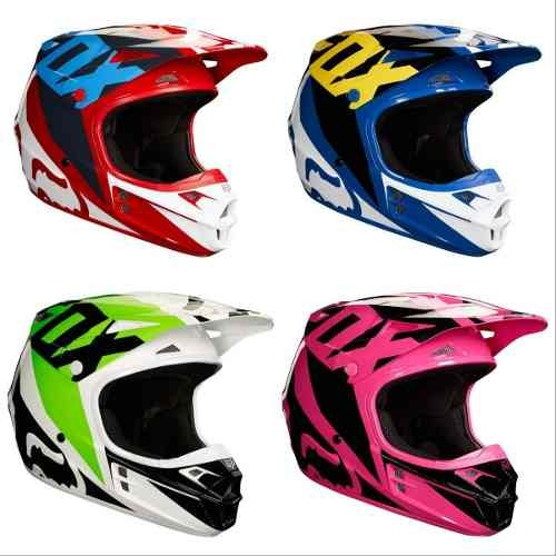 casco fox v1 race 2018 moto motocross enduro atv rider