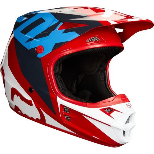 casco fox v1 race rojo 2018 motocross atv enduro rzr talla l