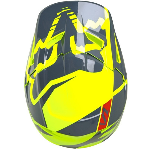 casco fox v1 race yellow rider one