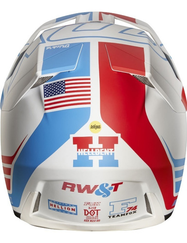 casco fox v3 edicion limitada rwt motocross #20858-574