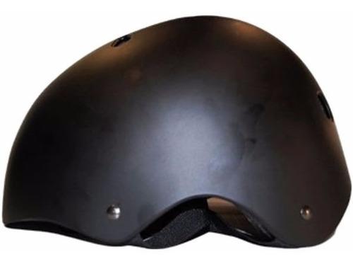 casco freevibe negro para skate bmx longboard bicicleta l