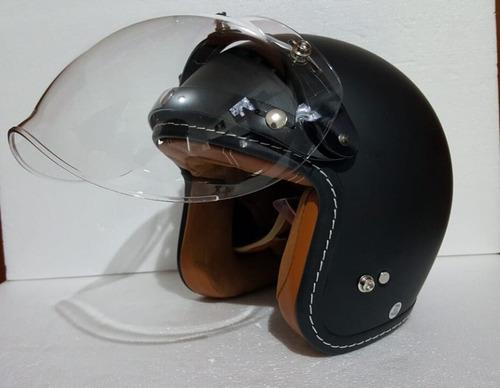 casco gdr negro mate+ mica burbuja  abatible  rider one