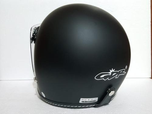 casco gdr negro + mica burbuja  abatible de regalo rider one