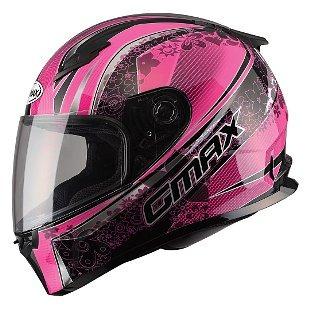 casco gmax ff49 elegance p/mujer rostro completo negr/ros xs