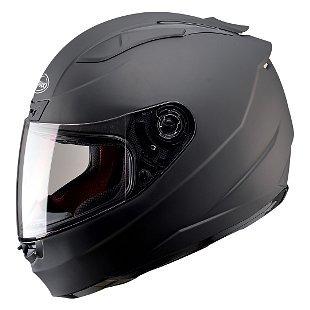 casco gmax ff88 sólido rostro completo negro mate sm street
