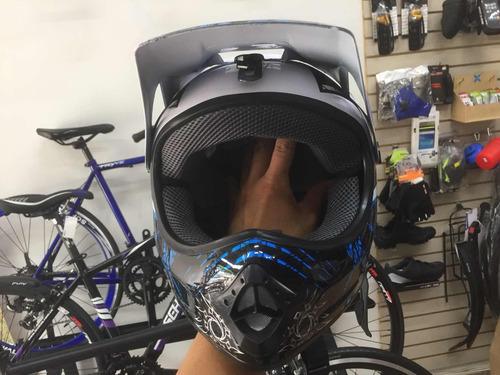 casco gw bmx downhill full face para bicicleta