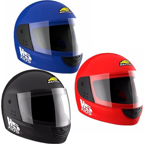 casco halcon h5 kids niños chicos homologado en fas motos!!