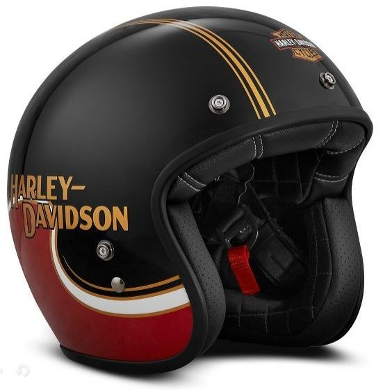casco harley davidson mod 98277 vx shovel rojo negro j. Black Bedroom Furniture Sets. Home Design Ideas