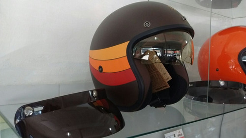 casco hawk 721 abierto con visor tipo vintage moto,motovega