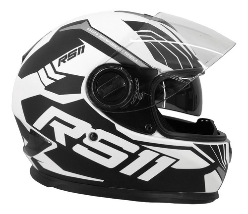 casco hawk rs11 revo doble visor integral lentes sti motos
