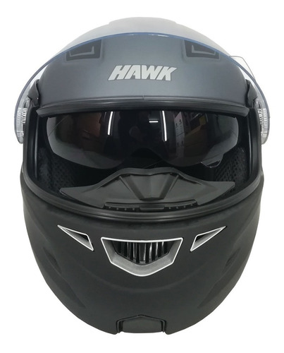 casco hawk rs5 vector rebatible doble visor 2019 - sti full