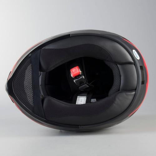 casco hjc c70 troky negro con rojo dot