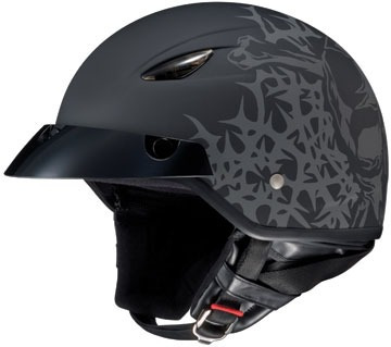 casco hjc cl-21m skull & thorns negro/gris xs