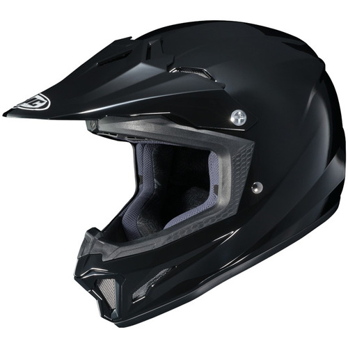 casco hjc cl-xy 2 mx/offroad juvenil negro brillante md