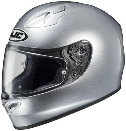 casco hjc fg-17 plateado metálico liso sm
