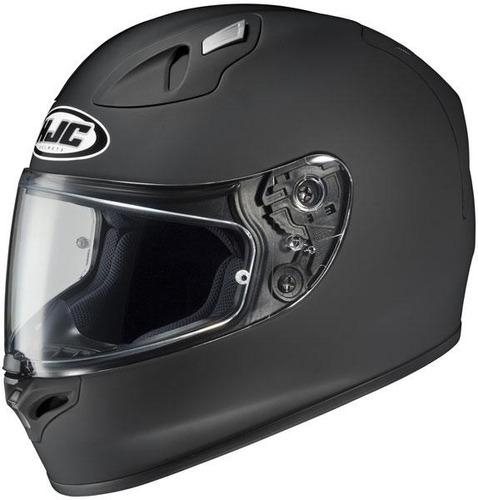 casco hjc fg-17 sólido negro mate sm