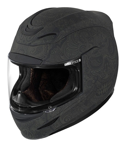 casco icon airmada chantilly rubatone negro xl