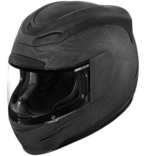 casco icon airmada helmet - black matte - talla l - g