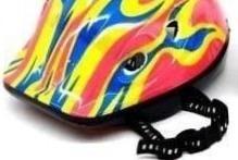 casco infantil + protecciones para 4 a 10 años