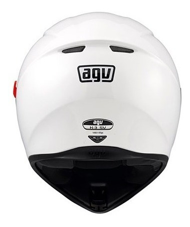 casco integral agv k3 sv blanco white doble visor - cuotas