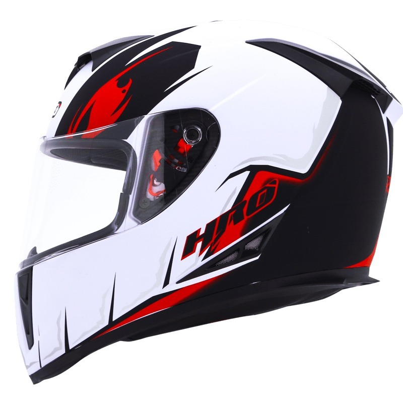 2710f311f0269 casco integral certificado dot hro 510 blanco brillo rojo. Cargando zoom.