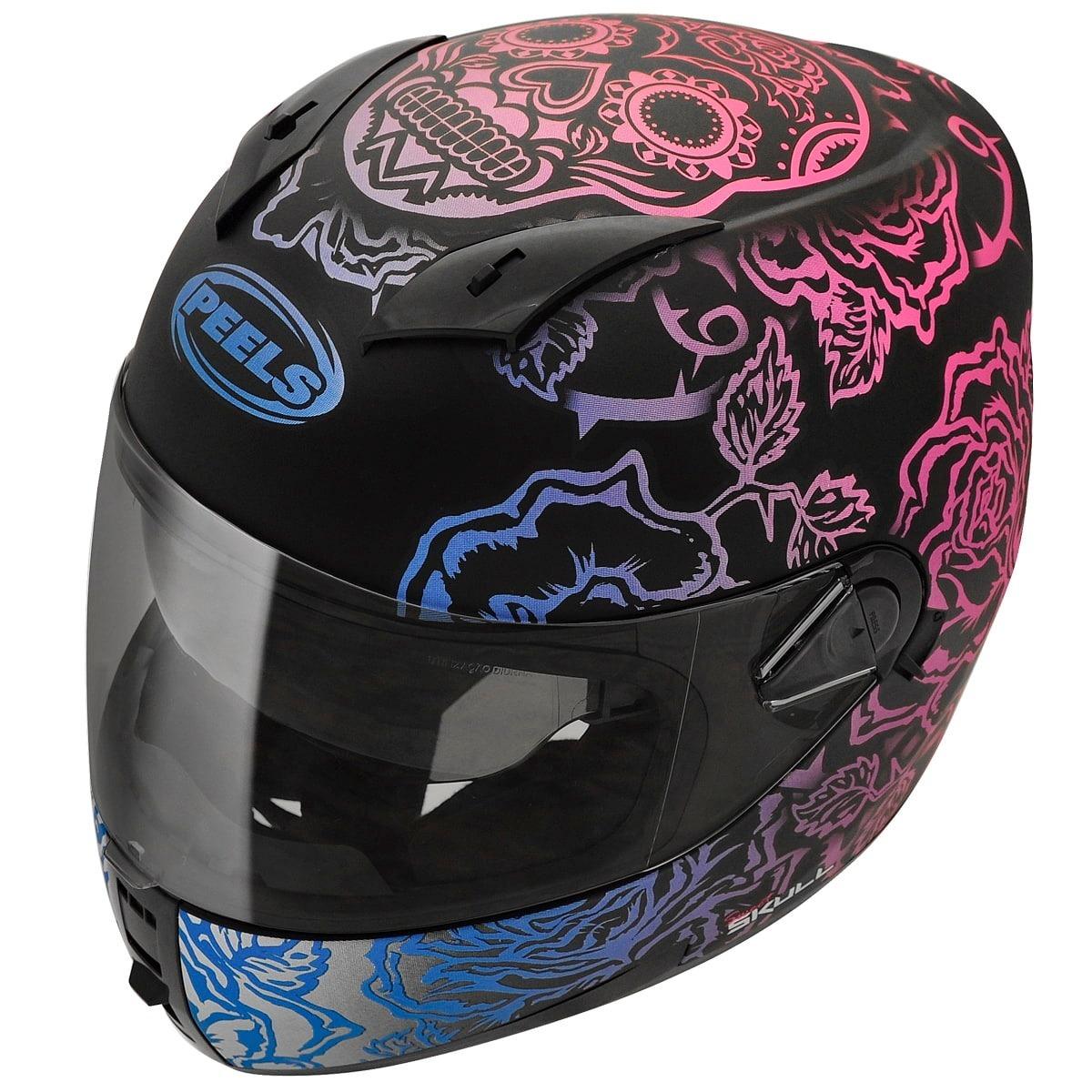 dca3fd8bb2a5c casco integral con gafas peels icon skull mujer qr motors. Cargando zoom.