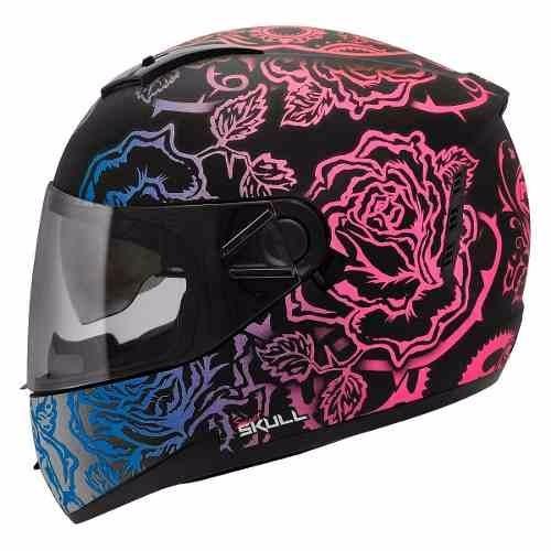 a5bccba5096a3 Casco Integral Con Gafas Peels Icon Skull Mujer Qr Motors -   2.900 ...