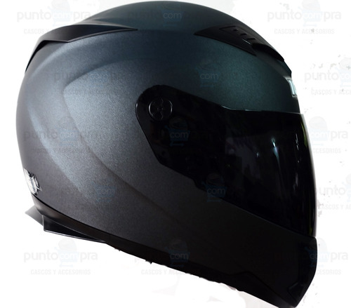 casco integral doble visor certificado dot ich 520 gris