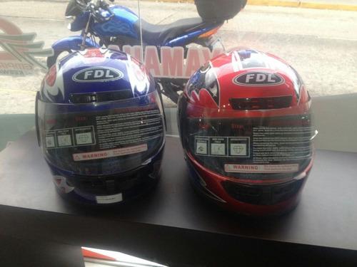 casco integral fdl azul-negro-gris-rojo