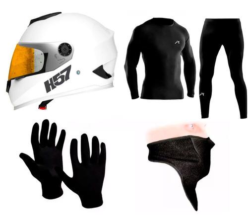 casco integral halcon h57 + combo termico invierno sti motos