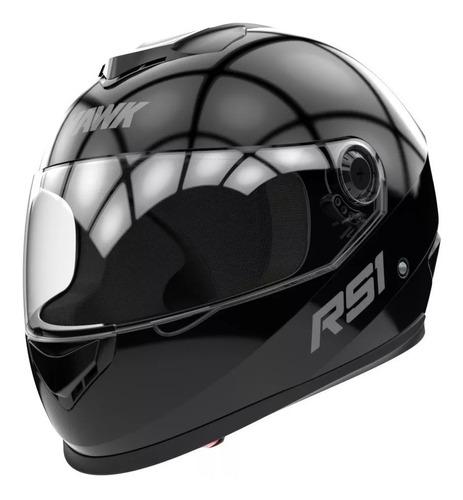 casco integral hawk rs1 negro e 2019 mercado full fas motos!