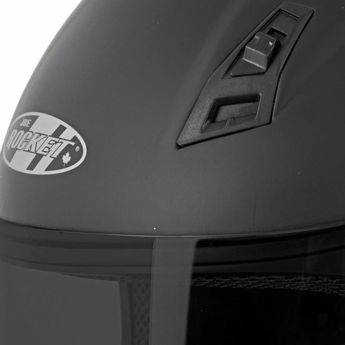 casco integral joe rocket rkt 7 solid negro mate mica humo