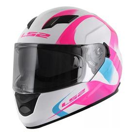 Casco Integral Ls2 F 320 Stream Velvet Pink Mujer D Visor.