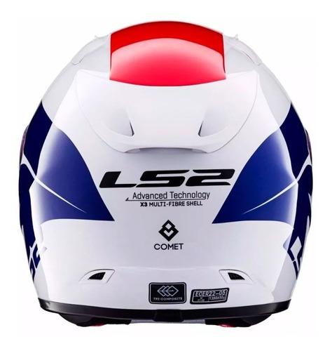casco integral ls2 ff323 arrow r comet w-blue-red cuotas